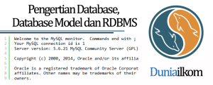 Tutorial Belajar MySQL - Pengertian Database Database Model dan RDBMS