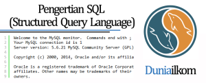 Tutorial Belajar MySQL - Pengertian SQL (Structured Query Language)