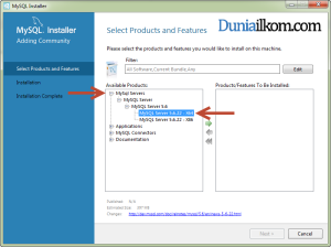 Tutorial Cara Menginstall MySQL 5.6 - Select Product and Features