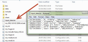 contoh data LOAD DATA INFILE MySQLE MySQL