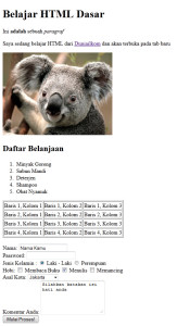 Tutorial HTML Dasar (Finish)