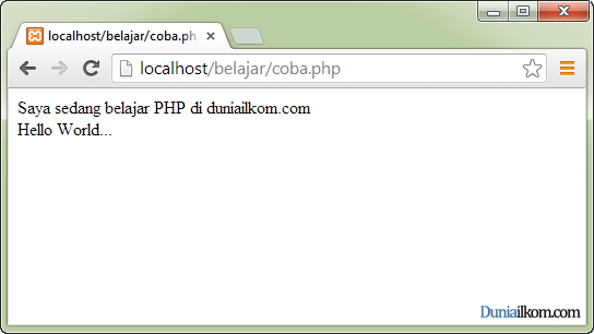 Cara Menjalankan File PHP - Hello World