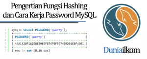 Tutorial MySQL Pengertian Fungsi Hashing dan Cara Kerja Password MySQL