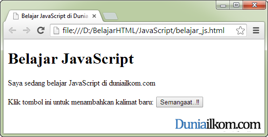 Cara Menjalankan Kode Program JavaScript - Contoh Program