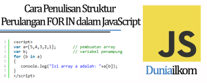 Tutorial Belajar JavaScript - Cara Penulisan Struktur Perulangan FOR IN dalam JavaScript
