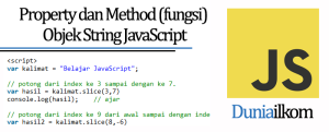 Tutorial Belajar JavaScript - Property dan Method (fungsi) Objek String JavaScript