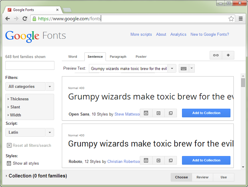 how to use google fonts css