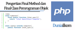 Tutorial Belajar OOP PHP - Pengertian Final Method dan Final Class Pemrograman Objek