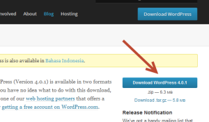 Cara Mendownload WordPress - Mulai proses download