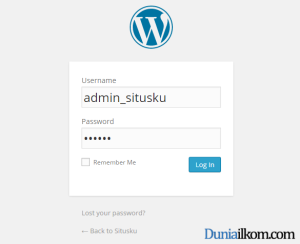 Cara Menginstall WordPress - Cara Login WordPress