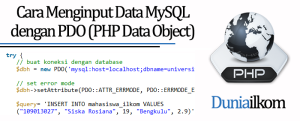 Tutorial PHP MySQL - Cara Menginput Data MySQL dengan PDO (PHP Data Object)