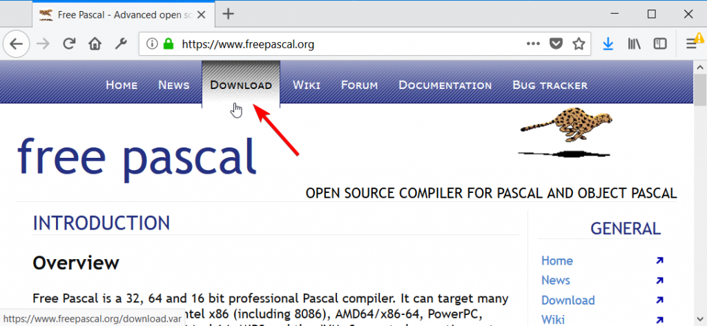 Cara download Free Pascal