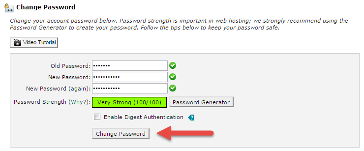 Cara Menukar Password cPanel