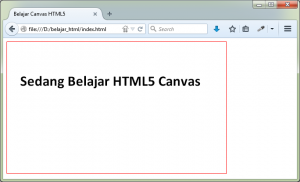 HTML Uncover - Belajar Canvas Element