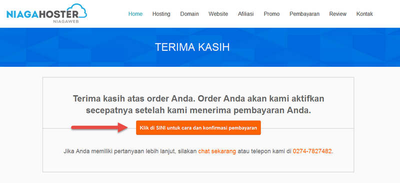Order Hosting Niagahoster