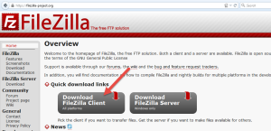 Download Filezilla Client