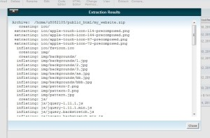 Proses Extract File Website Selesai