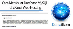 Tutorial Membuat Web Online - Cara Membuat Database MySQL di cPanel Web Hosting