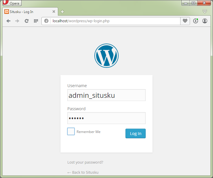 Halaman login admin wordpress