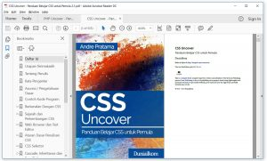 Tampilan eBook CSS Uncover