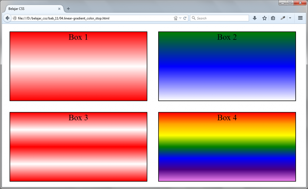 CSS Uncover - Linear Gradient