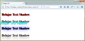 CSS Uncover - Text Shadow