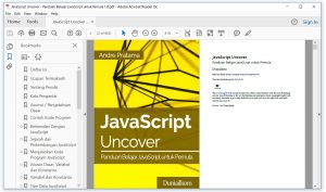 Tampilan eBook JavaScript Uncover