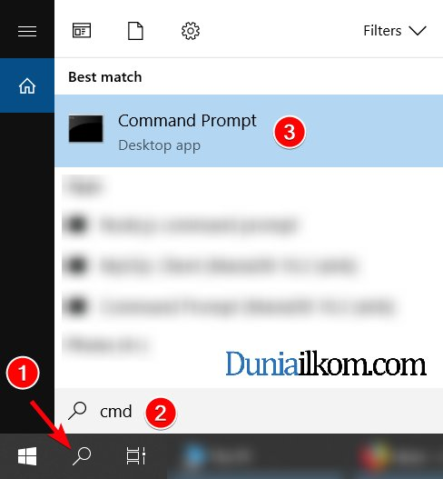 Cara menjalankan cmd Windows di Windows 10