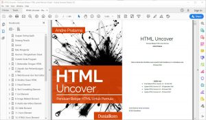 Tampilan eBook HTML Uncover