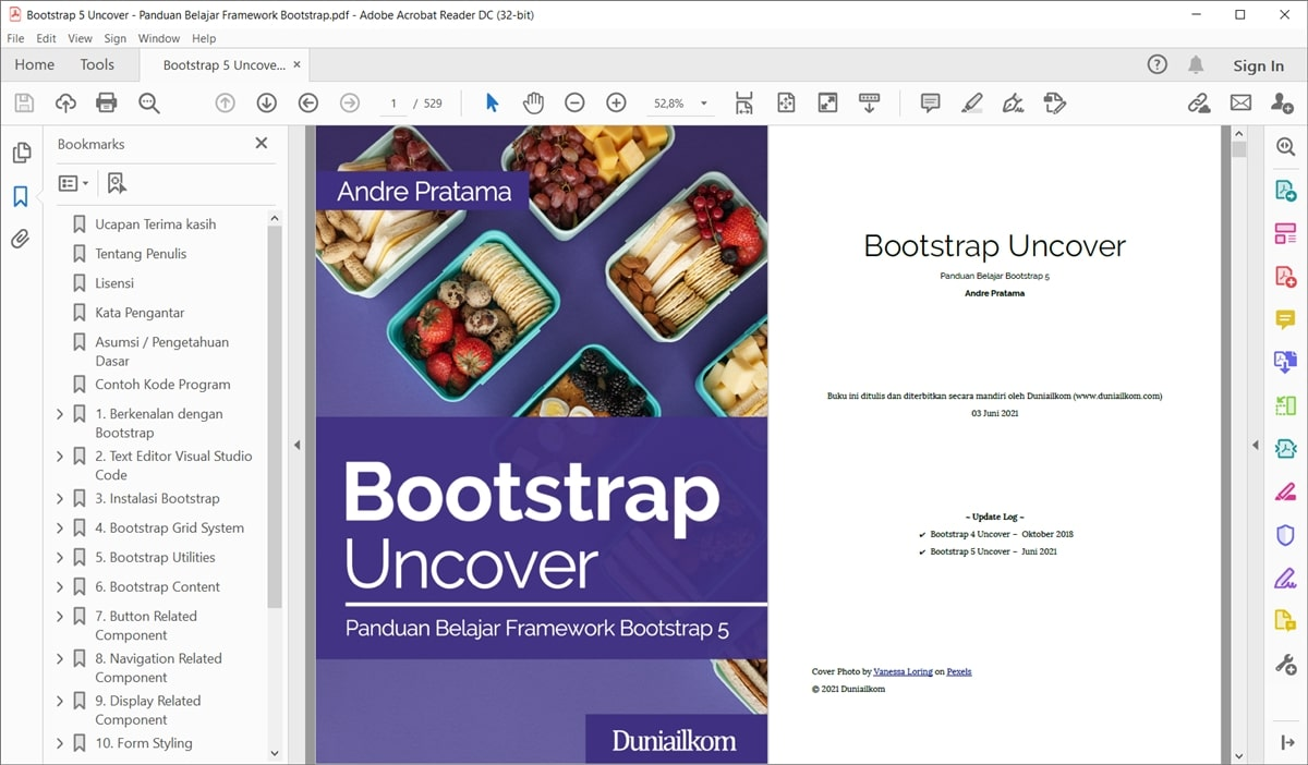Tampilan eBook Bootstrap 5 Uncover