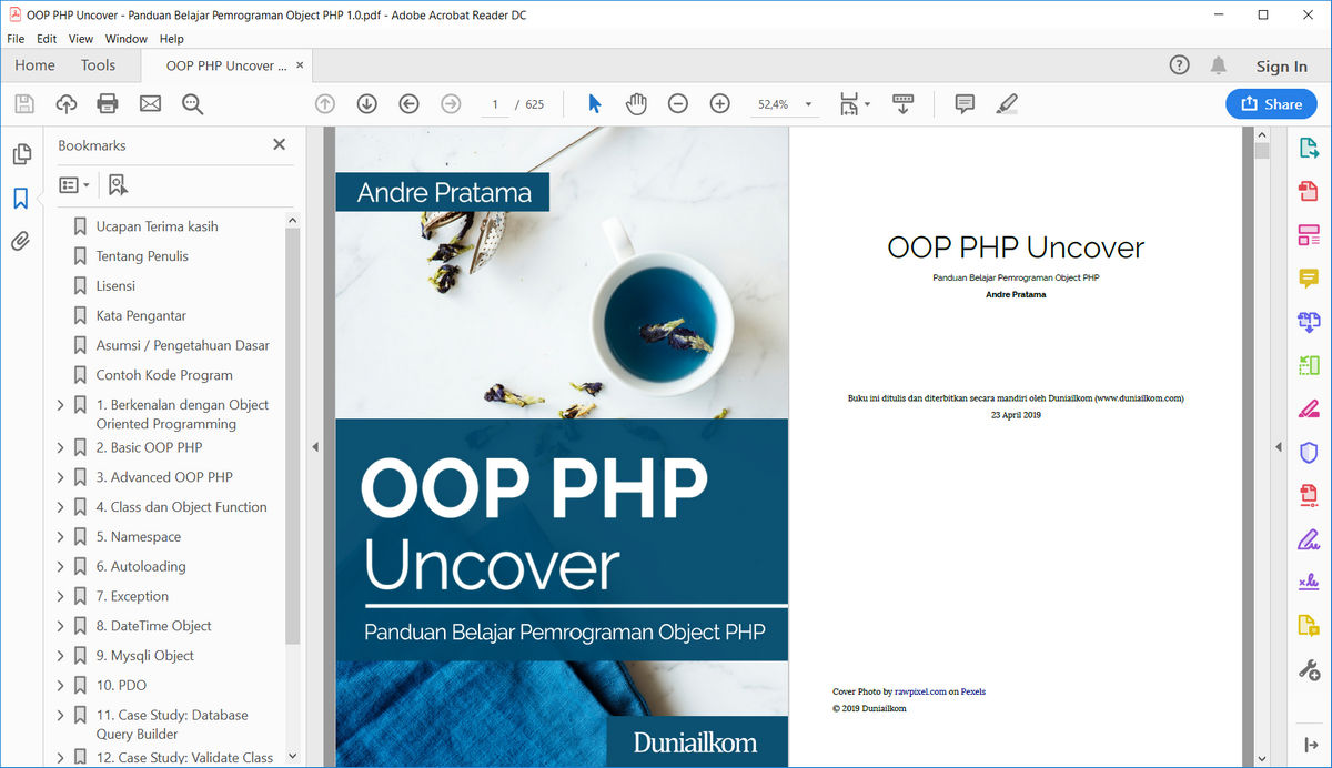 Tampilan eBook OOP PHP Uncover