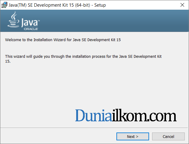 Proses instalasi Java JDK 15 part 1