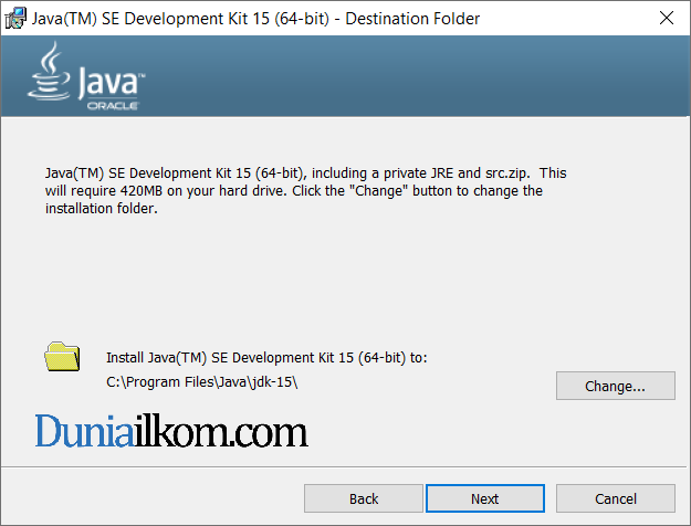 Proses instalasi Java JDK 15 part 2