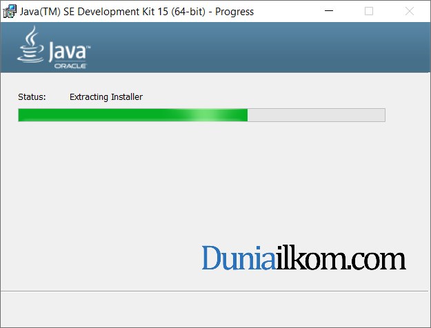 Proses instalasi Java JDK 15 part 3