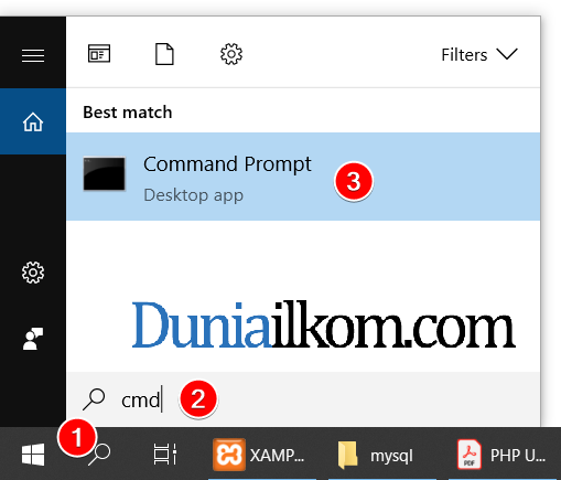 Cara membuat cmd di Windows 10