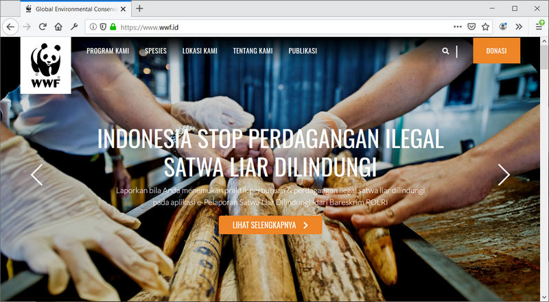 Website WWF Indonesia