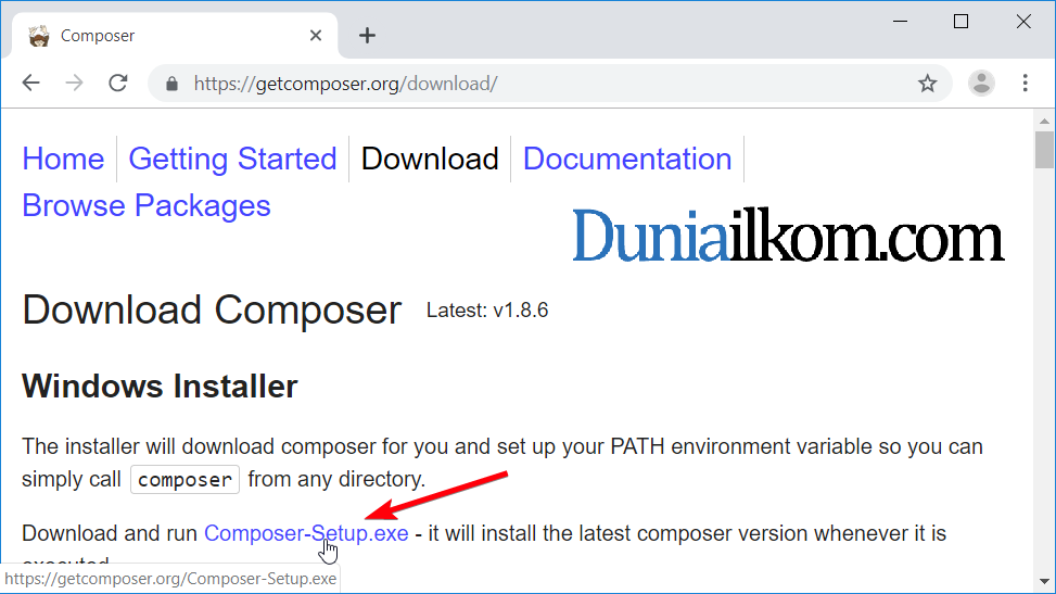 Cara Mendownload Aplikasi Composer