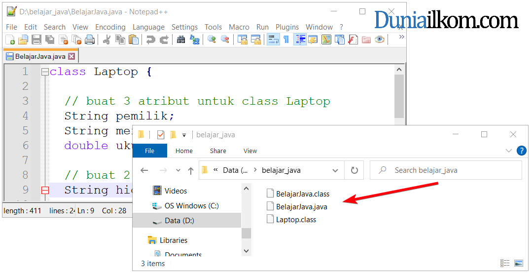File class Java hasil proses compile